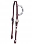 Tory Leather Motif Style Silver One Ear Headstall