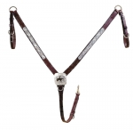 Tory Leather Motif Style Silver Breast Strap