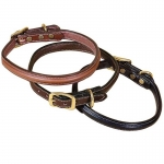 Tory Leather Narrow Raised Leather Dog Collar