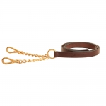 Tory Leather New Market Lead with Double Chain