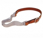 Tory Leather Nutcracker Style Cribbing Strap - Chestnut