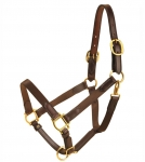 Tory Leather Nylon Halter With Leather Tab Ends