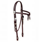 Tory Leather Oklahoma Silver Brow Knot Headstall