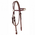 Tory Leather Oklahoma Silver Flared Brow Headstall