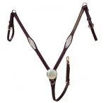 Tory Leather Oklahoma Silver Flared Breast Strap