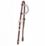 Tory Leather Oklahoma Silver Full Ear Piece One Ear Headstall