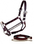 Tory Leather Oklahoma Silver Show Halter w/Lead