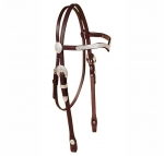 Tory Leather Oklahoma Silver V-Brow Band Headstall