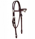 Tory Leather Oklahoma Silver V-Brow Headstall