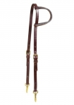Tory Leather One Ear Headstall With Solid Brass Snap Ends
