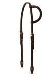 Tory Leather One Ear Headstall with Buckles and Chicago Screws
