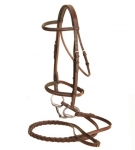 Tory Leather Padded Bridle with Laced Reins