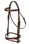 Tory Leather Padded Flash Bridle with Buckle Ends