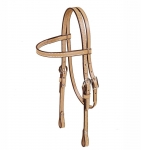 Tory Leather Pony Brow Band Headstall with Double Crown Buckles