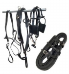Tory Leather Pony Driving Harness with Brass Hardware