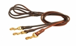 Tory Leather Rolled Leather Dog Leash - 4'