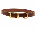 Tory Leather Saddle Stitched Leather Dog Collar