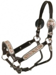 Tory Leather Salinas Show Halter w/Lead