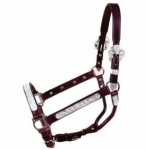 Tory Leather San Diego Berry Show Halter w/Lead