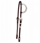 Tory Leather San Diego Berry Silver One Ear Headstall
