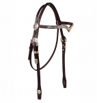 Tory Leather San Diego Berry Style Silver V Brow Headstall