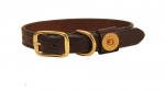 Tory Leather Shot Shell Dog Collar