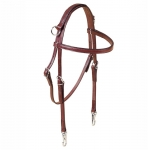 Tory Leather Side Check Headstall with Nickel Snap Ends