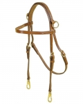Tory Leather Side Check Headstall with Solid Brass Hardware