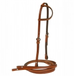 Tory Leather Sliding Ear Headstall & Reins
