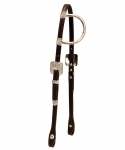 Tory Leather Solid Silver One Ear Headstall