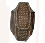 Tory Leather Tooled Basket Weave Cell Phone Case
