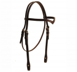 Tory Leather V-Brow Band Headstall with Buckles and Chicago Screws