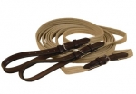 Tory Leather Web and Leather Draw Reins