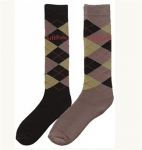 TuffRider Argyle Winter Socks
