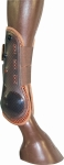 TuffRider Brown Open Front Horse Boot