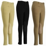 TUFFRIDER Ladies Cotton Knee Patch Breeches - Long