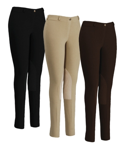 Tuffrider Ladies Cotton Lowrise Pull On Breeches By Jpc