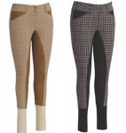 TuffRider Ladies Highland Bamboo Plaid Full Seat Breeches