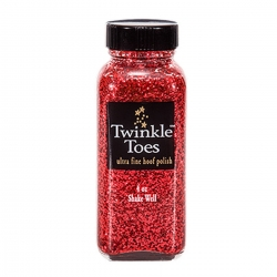Twinkle Toes Glitter Hoof Polish instantly makes hooves
