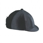 Velvet Stretch Helmet Cover with Peak Button