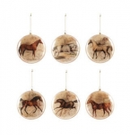 Vintage Running Chestnut Horse Ornament