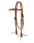 "Weaver Leather 2 Tone Browband Headstall - 5/8"", Cross"