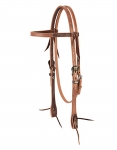 "Weaver Leather 2 Tone Browband Headstall - 5/8"", Floral"