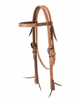 "Weaver Leather 2-Tone Browband Headstall - 3/4"", Floral"