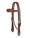 Weaver Leather Basin Cowboy Browband Headstall