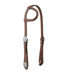 Weaver Leather Basin Cowboy Flat Sliding Ear Headstall