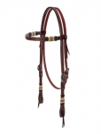 Weaver Leather Basketweave Bridle Leather Browband Headstall