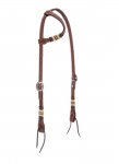 Weaver Leather Basketweave Bridle Leather Flat Sliding Ear Headstall FREE SHIPPING