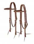 Weaver Leather Boot Stitch Browband Headstall