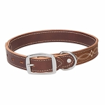 Weaver Leather Boot Stitch Dog Collar, Sand, 1""